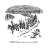 """See That's how it starts, with the sniffles."" - New Yorker Cartoon Impressão giclée premium por Frank Cotham"