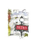 Métro - Paris, France Affiches par Jessica Durrant