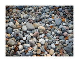 Pebbles, Little Hunters Beach Prints by Michael Hudson