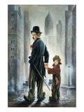 Charly Chaplin 6 Kunstdruck von Renate Holzner
