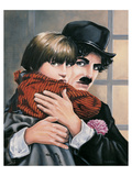 Charly Chaplin - the Kid Posters by Renate Holzner