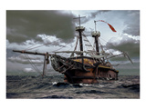 Flying Dutchman Abondoned Ship Stampe