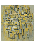 Composition in Brown Premium Giclee Print by Piet Mondrian