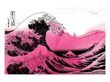 Hokusai - Pink Wave Posters