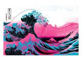 Hokusai - Pink Wave II Poster