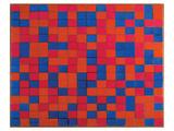 Composition with Grid Affiches par Piet Mondrian