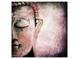 Pinkish Sgrafitto Buddha Posters