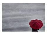 Schwartz - Little Red Umbrella Premium Giclee Print by Don Schwartz
