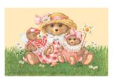 Mummy Bear Prints by Renate Holzner