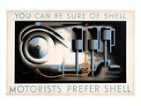 Motorists Prefer Shell Posters