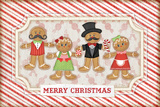 Gingerbread Christmas Posters by Jennifer Pugh