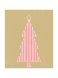Stripe Tree on Kraft Poster di Linda Woods