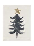 Black and Gold Tree I Poster von Linda Woods