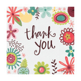 Thank You Floral Poster di Katie Doucette