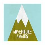 Adventure Awaits - Silouhette Typography Láminas por Shanni Welch