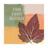 Faith Family Gratitude Láminas por Linda Woods