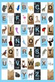 Alphabet - Boys Poster av Aubree Perrenoud