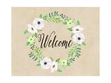 Welcome Green Wreath Póster por Tara Moss