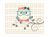 Owls 2 A Poster van Tamara Robinson