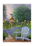 Lavender Quail Watch Art by Julie Peterson
