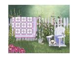Floral Sunburst Quilt Print by Julie Peterson
