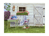 Garden Shed and Wren Posters by Julie Peterson