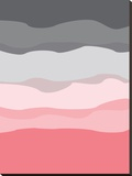 Coral Gray Abstract キャンバスプリント :  Jetty Printables