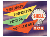 Shell the Most Powerful Petrol Poster