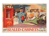 Shell Now Sealed Cabinets Print
