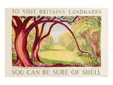 Shell Visit Britain Wiltshire Posters