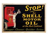 Stop for Shell Motor Oil Print