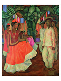 Tehauntepec Dance Art by Diego Rivera