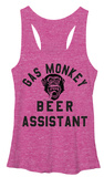 Juniors Tank Top: Gas Monkey- Beer Assistant Regatas femininas
