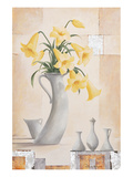 Yellow Star Prints by Renate Holzner