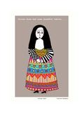 Sister Rosa (Grey) Giclée-tryk af Corrina Rothwell