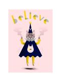Inspirational Wizard Cat Stampa giclée di Jordan Andrew Carter