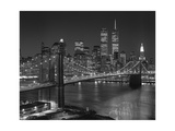 Top View Brooklyn Bridge - New York City Icons Fotografisk tryk af Henri Silberman