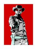 Jamie Foxx - Django Giclée-tryk af Emily Gray
