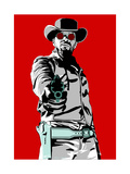 Jamie Foxx - Django Gicléedruk van Emily Gray