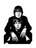 Lennon and McCartney Reproduction procédé giclée par Emily Gray
