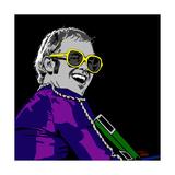 Elton John Reproduction procédé giclée par Emily Gray