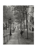 Montmartre Steps 3 - Paris, France Photographic Print by Henri Silberman