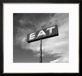"Vintage ""Eat"" Restaurant Sign Framed Photographic Print by Aaron Horowitz"
