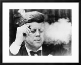 President John Kennedy, Smoking a Cigar at a Democratic Fundraiser, Oct. 19, 1963 Posters