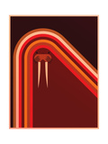 Northern Lights Giclée-tryk af Greg Mably