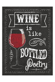 Chalkboard Wine Glass Posters by Melody Hogan
