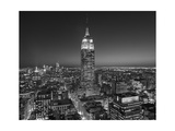 Empire State Building, East View - New York City at Night Photographic Print by Henri Silberman