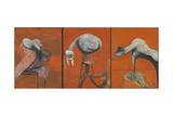 Three Studies for Figures at the Base of a Crucifixion Reproduction procédé giclée par Francis Bacon