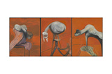 Three Studies for Figures at the Base of a Crucifixion Giclee Print by Francis Bacon