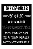 Office Rules 1 Kunstdrucke von Sheldon Lewis